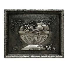 Fruit Bowl 3 Backsplash Mural, Pewter