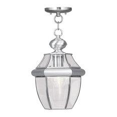 Monterey Outdoor Chain-Hang Light, Brushed Nickel
