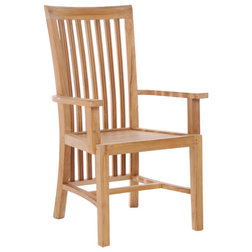Transitional Outdoor Dining Chairs by Chic Teak