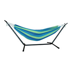Ocean Stripe Double Classic 2 Person Hammock with Stand