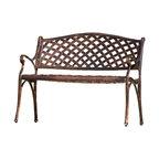 GDF Studio Eastwood Antique Copper Cast Aluminum Garden Bench