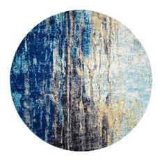 Nuloom Katharina Area Rug Blue 8 Round Rugs