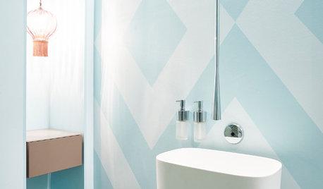 Frische Muster für ein Gäste-WC in Pforzheim