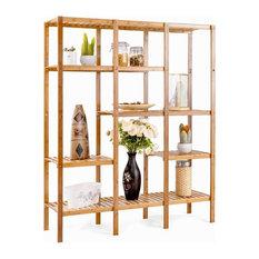 Multifunctional Bamboo Shelf Bathroom Rack Storage Organizer Rack Plant Display