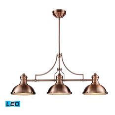 Genial ELK Group International   Elk Lighting 66145 3 LED Chadwick Transitional  Island Light In