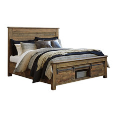 Sommerford King Panel Storage Bed in Brown SPECIAL