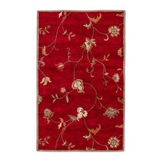 Jaipur Living Alsace Handmade Floral Red/Multicolor Area Rug, 8'x10'