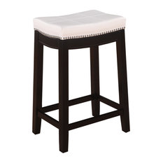 Residence Rockne Seamed Counter Stool White Bar Stools And