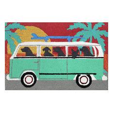 "Frontporch 1475/04 Beach Trip Turquoise, 36""x24""x0.38"""