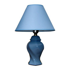 ore ceramic table lamp blue table lamps