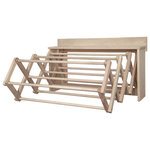 "Amish Handmade - Handmade Amish Maple Folding Drying Rack Wall Unit, 35.5"" - large amish handmade"
