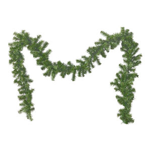 9' Noble Fir Pre-lit Warm White LED Artificial Christmas Garland, Green