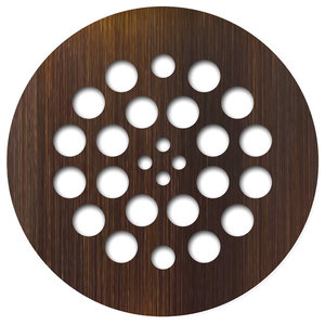 4 25 Round Shower Drain Cover In Oil Rubbed Bronze Tub And Shower Parts By Buildcom Houzz
