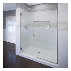 "Celesta Shower Door, Fits 57-58"", Clear Glass, Brushed Nickel"