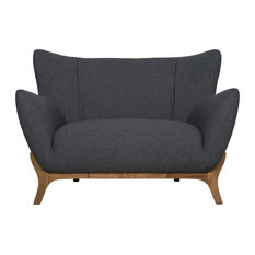 Wesley Scandinavian Armchair, Dark Grey