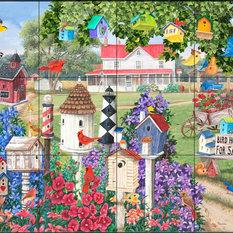 Tile Mural, Birdhouses for Sale - MT, 60.8x45.6 cm