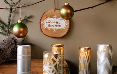 3 Easy Crafts for a Glittery Woodland Holiday Display