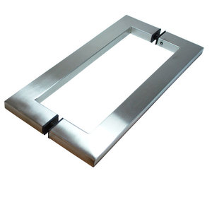 "Back-to-Back Thin Square Door Pull 12"" - Stainless Steel, Chcp004-300sss"