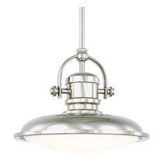 Coppola LED Pendant, Polished Nickel