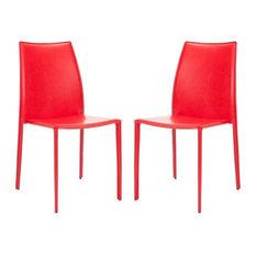 Safavieh Korbin Side Chairs, Set of 2, Red