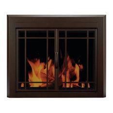 """Pleasant Hearth EN-5502 Enfield Prairie 31"""" H x 43.5"""" L Large Cabinet Style Fir"""