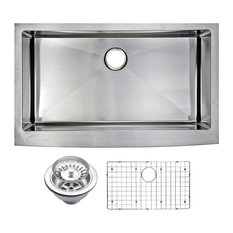 "36"" X 22"" Small Radius Single Bowl Stainless Steel Apron Front Kitchen Sink"