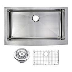 "36"" X 22"" Small Radius Single Bowl Stainless Steel Apron Front Kitchen Sink"