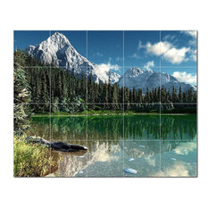 Mountain Photo Ceramic Tile Mural Kitchen Backsplash Bathroom Shower, 405540-XL5