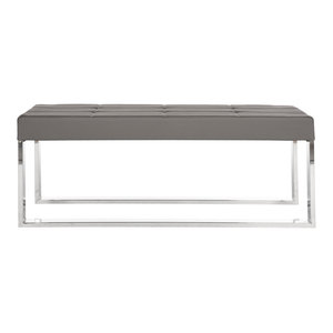 Safavieh Collin Bench, Anthracite Grey and Silver