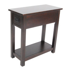 Bolton Furniture, Inc.   Mission Chairside Table, Espresso   Side Tables  And End
