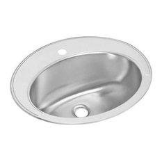 Elkay Asana Stainless Steel, Single Bowl Top Mount Bathroom Sink