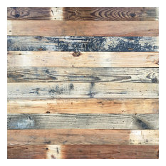 Solid Wood Wall Panel DIY Home Decor 12.4sq ft Quick Self-sticking Board 10 pcs