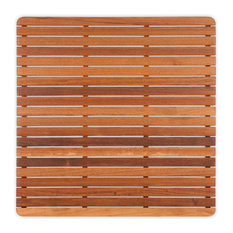 """Plantation Teak Mat With Rounded Corners, 30""""x30"""""""