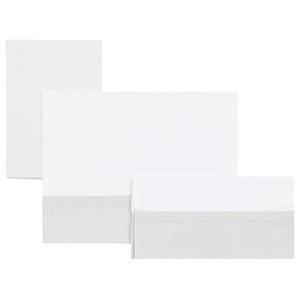 Isaac 3-Piece Carrycot Bedding Set, Grey