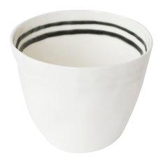 Dots and Stripes Porcelain Mugs, Set of 4, Stripes on Top