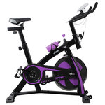 Akonza - Indoor Stationary Exercise Bicycle, Purple - Akonza Revolution Cycle is the perfect combination of club-style quality & home-fitness convenience. Set the pace and intensity with the manual resistance knob, while the easy brake mechanism halts motion so you can hydrate or take a breather before pedaling on. Features include adjustable handlebars, seat & pedals to accommodate several user types. Motivated yourself to stay fit by adding the Akonza Stationary Exercise Bicycle to your home.