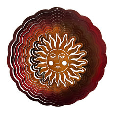 Large Sunface Red/Copper Wind Spinner