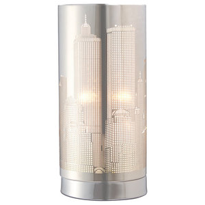 Metro Touch Table Lamp, Polished Chrome