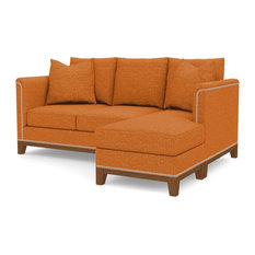 La Brea Reversible Chaise Sofa, Sweet Potato