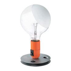 flos flos official lampadina orange color modern table lamp by achille castiglioni table lamps