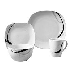 tabletops gallery carnival 16piece dinnerware set bakeware sets - Bakeware Sets