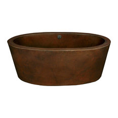 Aspen Freestanding Copper Bathtub, Antique Copper