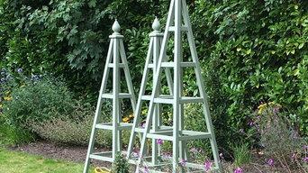 Wooden Garden Obelisks in Cheshire