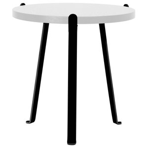Arch Oak Side Table, Signal White