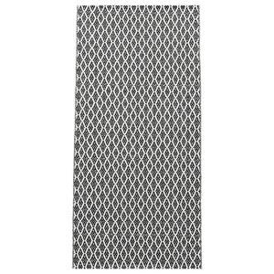 Eye Woven Vinyl Floor Cloth, Black, 150x250 cm