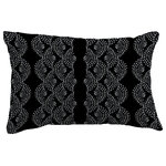 "E by Design - Dotted Dcor Stripe Print Throw Pillow With Linen Texture, Black, 14""x20"" - Add a floral touch to enhance your home decor with E by Design's Fickle Floral dotted decor geometric decorative pillows. These designs are sure to add a welcoming and flowery feel to any bedroom, living room, sitting room, or piece of furniture that needs a touch of floral style!"