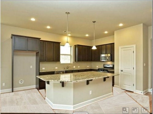 Dark Kitchen Cabinets With Tile Floor