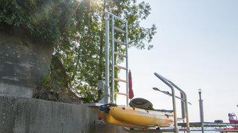 Kayak Seawall Launch