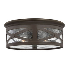 Sea Gull Lighting 7821402-71 Lakeview - Two Light Outdoor Flush Mount