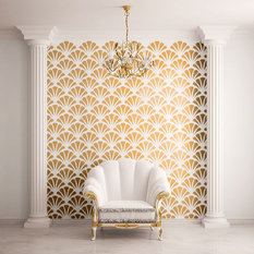 My Wonderful Walls Scallop Shell Pattern Wall Stencil For Painting Stencils